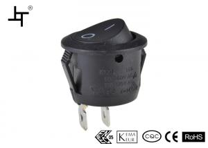 China Black 6A Plastic Mini Boat Rocker Switch / Switches For Fluorescent Lamp on sale