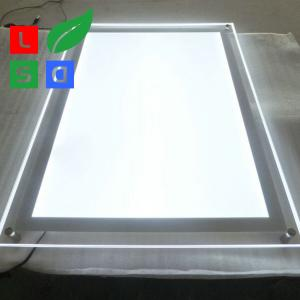 China Rectangle LED Crystal Light Box Customized Size LED Menu Display Energy - Saving on sale