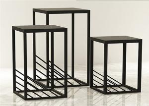 China Simple Exquisite Metal Display Racks And Stands Black For High End Clothing Shop on sale