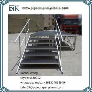 China outdoor portable aluminum stage no slip platform adjustable riser easy install for concert event on sale