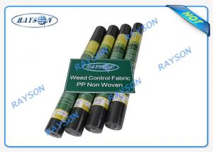 China Black / White Color Wide Width Join Garden Weed Control Fabric , Biodegradable Mulch Film on sale