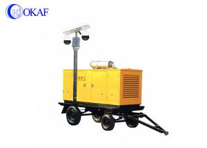 China Braking System Mobile Surveillance Trailers , Vehicle Mounted Light Tower 1920×1080P on sale