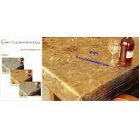 Arabic PVC Table Cloth--RNPT Ti-Gold Table cloth with polyester backing --fancy table cloth for Africa countries
