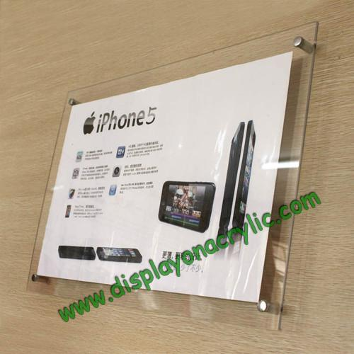 Wall Mounted Clear Acrylic Poster Frames for Display for sale ...
