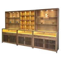 Chinese Style Jade Jewelry Display Showcase Modern LMQ-055 With LED Blub