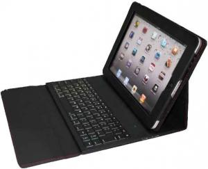 China Mini Wireless Bluetooth Keyboard Leather iPad2 soft case with Bluetooth 2.0 technology on sale