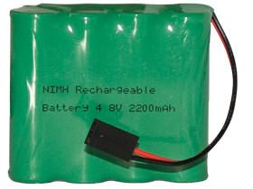 China Rechargeable NiMH AA 4.8V 2200mAh Battery Pack with Connector on sale