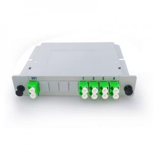 China Customized Fiber Length Fiber Optic PLC Splitter Module 2x8 Cassette Card on sale