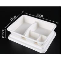 China Sustainable Biodegradable Bagasse Food Containers on sale