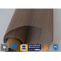 PTFE Coated Fiberglass Mesh Fabric Brown 4X4MM Paper Industry Conveyor Belt 260℃