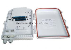 China 16 Fiber Fiber Optic Termination Box ABS Plastic With PLC Splitter Cassette Type on sale