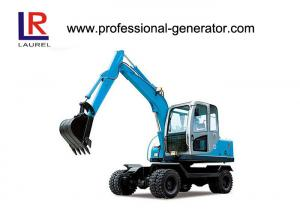 China 50kw 2200rpm Wheel Excavator with 45KN Digging Force ,16Mpa Overdrive Pressure on sale