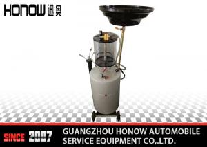 China 13L Sight Glass 4 Wheels Pneumatic Waste Oil Extractor / Oil Sucking Machine on sale