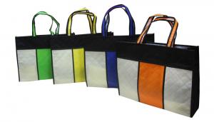 China Square Reusable Carrier Bags / Reusable Grocery Bag For Advertising on sale