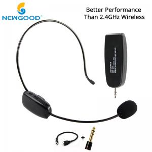 China NEWGOOD UHF Headset Stereo Nature Sound Voice Amplification Wireless Microphone Megaphone with Dual USB Charge Cable on sale