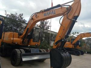 China MAFAL 13.5TON yellow YUCHAI ENGINE  WHEEL EXCAVATOR  WITH excavator root ripper AUGER HAMMAR FOR SALE on sale