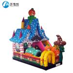 Commercial PVC Tarpaulin Inflatable Halloween Bouncer with Slide for Kids
