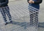 Rust Proof Galfan Coated Welded Gabion Box , 30CM*50CM*1M Hot Dipped Galvanized Welded Stone Box