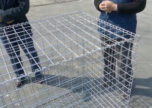 China Welded Mesh Hesco Hot Dipped Galvanized Gabion Baskets , 1M x1 Mx0.5m Gabion Retaining Wall on sale