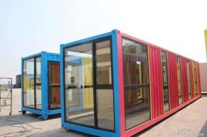 China Anti Seismic Recycle Waterproof Prefab Container House Construction 40ft Size on sale