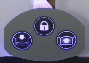 China Embossed Surface Backlit Membrane Switch Keypad UV Resistant Waterproof on sale