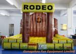 China 5 * 5m Inflatable Bouncy Castle / Inflatable Jumping Mat For Mechanical Rodeo Bull wholesale