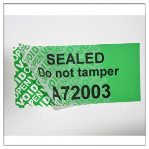 """anti fake labels 1/"""" Hologram Security seal warranty sticker void if tampered"""
