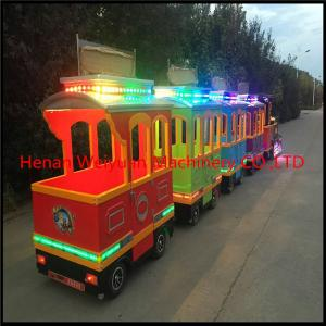 China Attractions tourist road train  trackless train for sale on sale