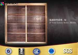China Customized Bedroom PVC Wardrobe Sliding Door Design Eco Friendly on sale
