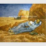 Custom Vincent Van Gogh Oil Paintings Reproduction La Sieste For Coffee Stores Decor
