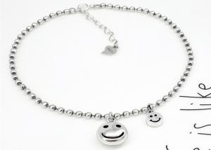 China Gold Suppliers New Product 2018 Ankara Lovely Smiley Face Jewelry S925 Silver Bracelet For Sorority on sale