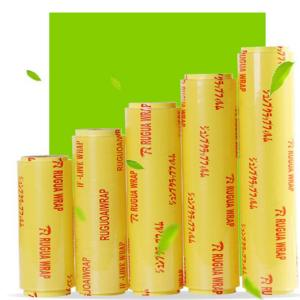 China Food Grade Transparent Packaging PVC Cling Film for Food Wrap on sale