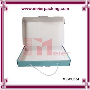 China Cotton handle corrugated paper box, shopping carrier handle gift box ME-CU004 on sale