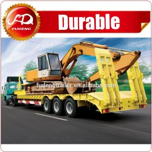 China Widely Used Heavy Duty 3 Axles 60-100ton Low Bed Truck Semi Trailer For Sale on sale