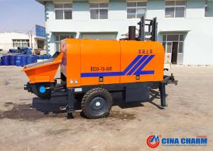 China 1800rpm Trailable Mini Concrete Pump , 30m3 Diesel Portable Cement Pump on sale