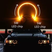 China Yellow 131mm LED guide light LED angel eyes for BMW E38 E39 E36 E46 LED headlight halo ring for BMW LED angel eyes on sale