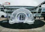 UV Resistant Transparent Geodesic Dome Tent , Outdoor Event Half Sphere Tent
