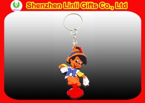 China OEM custom many designs silicone rubber soft PVC keychain for promotion gift  on sale