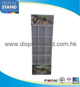 China Floor CD Stand Cardboard Display Stands with Pockets For Music CD Disks on sale