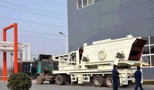 China Portable Hard Rock Crushing Mobile Jaw Crusher Machine, Stone Jaw Crusher With PLC Control System on sale