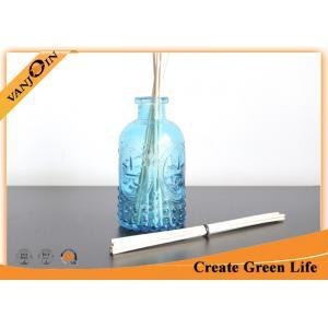 China frascos de vidro coloridos 240ml do armazenamento com tampas, garrafas de vidro do difusor de Reed da fragrância on sale