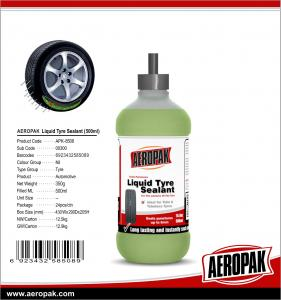 China Aeropak Emergency Tire Puncture Repair Liquid Tire Sealant OEM for Car Care on sale