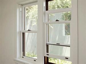 China Customized Size Double Hung Aluminum Sash Windows Heat Insulation on sale