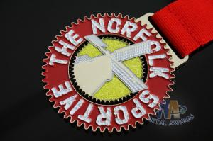 Quality Die Casting Metal Award Medals Soft Enamel With Lanyards 50*3mm for sale