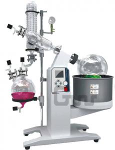 China Pilot Scale 5L/10L/20L/50L Rotary Evaporator with Motorized Lift and Vertical Condenser on sale