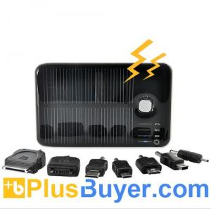 China 5000mAh Solar Battery Charger with Dual Charging Ports for iPod, iPhone, iPad, Samsung, HTC, Sony Ericsson and More on sale