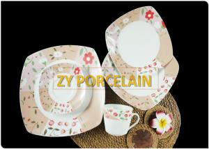 China 8 Inch Ceramic Dinner Plates Round FLOWER  On-glazed Porcelain Steak Pasta Desserts Creative Cute Dishes & Plates on sale