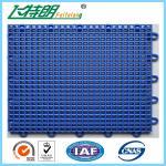 Outdoor Interlocking Polyurethane Sports Flooring 350g / pc PU Hard Flat Surface