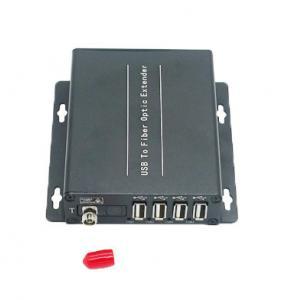 China 4 ports USB2.0 to fiber optical converter,4 channles USB2.0 over fiber transmiceiver, on sale