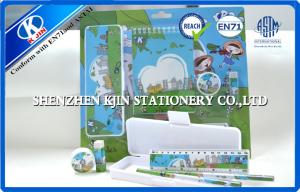 China Blister Card Kids Personalized Stationery Set , School Stationery Set on sale